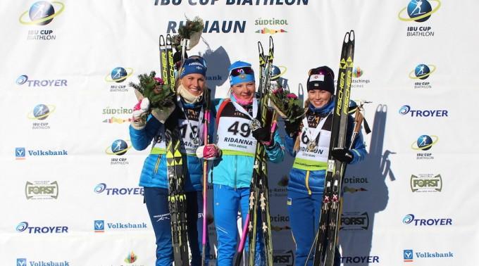 Andersson_Morozova_Bielkina_IBU_Cup_Ridnaun-Ridanna_sprint_women_15_12_2018