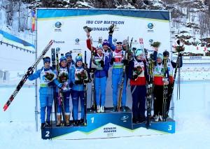 IBU_Cup_Ridnaun_podium_mixed_relay_13_12_2018