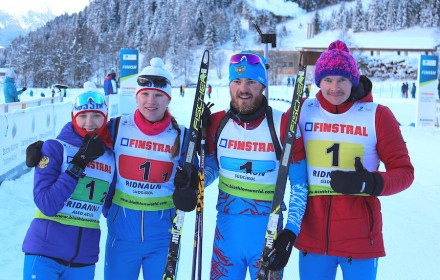 Mironova_Kazakevich_Babikov_Shopin_IBU_Cup_Ridnaun_mixed_relay_Russia_13_12_2018